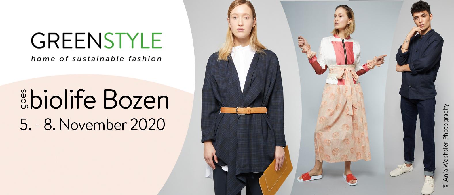 GREENSTYLE @ biolife Bolzano 5. to 8.11.2020