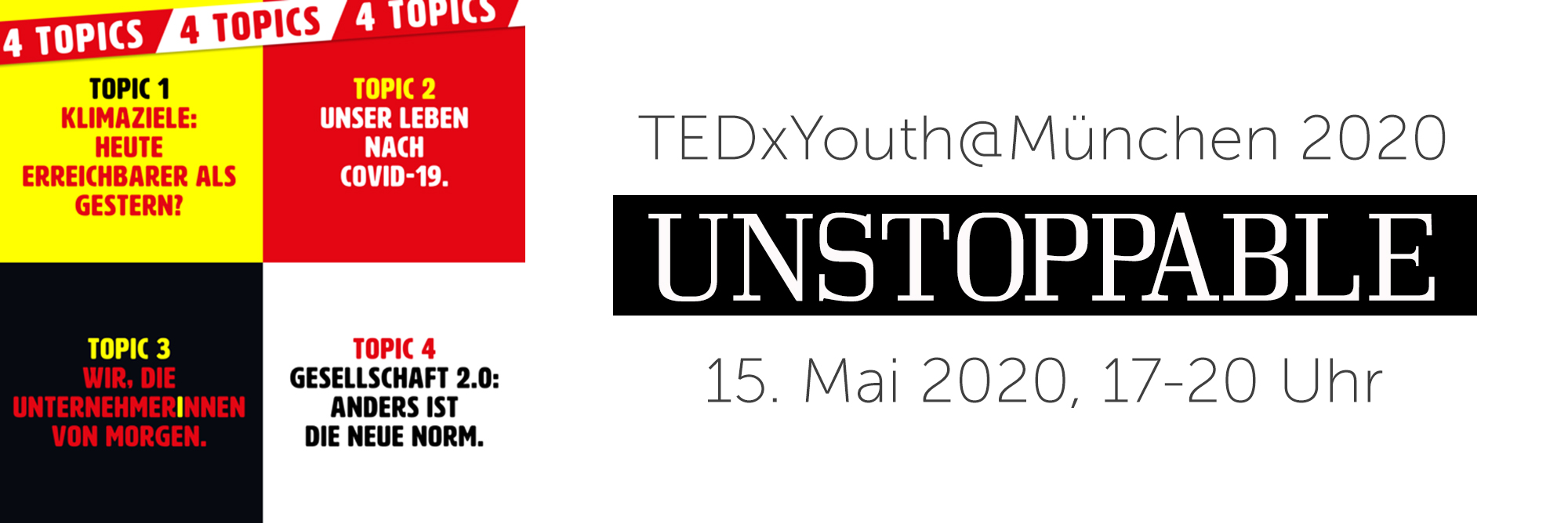 TEDxYouth @ München: UNSTOPPABLE
