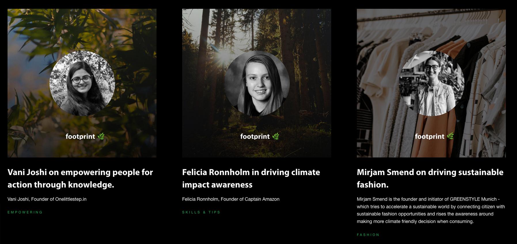 Footprint – die App für nachhaltige Entscheidungen
